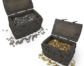 3D model Treasure Chest Gold Silver
