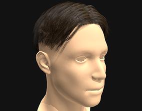 VR / AR ready 3D Hair Male Middle Part Undercut