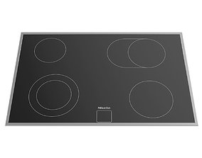 Ceramic electric hob KM 6013 800 mm by MIELE 3D model