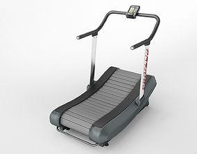 3D model curved treadmill air runner