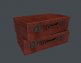 Leather Suitcase - Leather Briefcase - Leather 3D asset