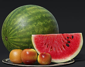 Watermelon and Fruits 3D