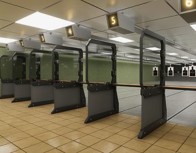 HQ Shooting Range 3D model realtime