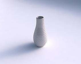 3D printable model Vase curved with grid piramides
