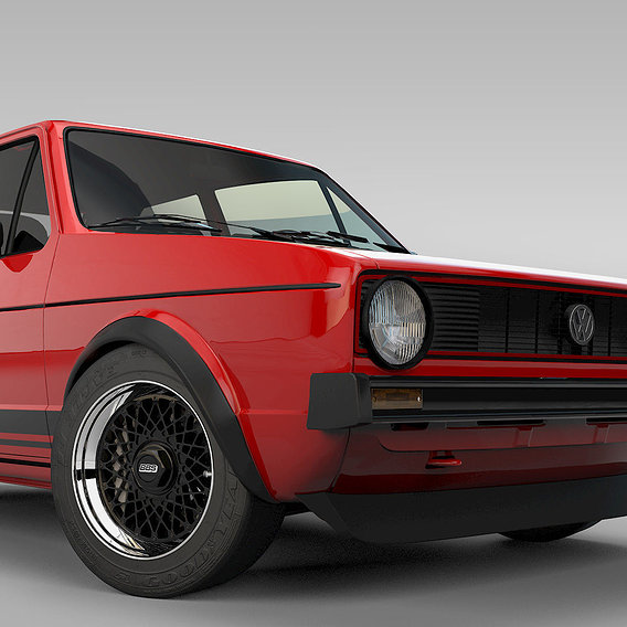 VW Golgf GTI MK1 Red