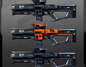 3D asset SF Heavy MachineGun AK8