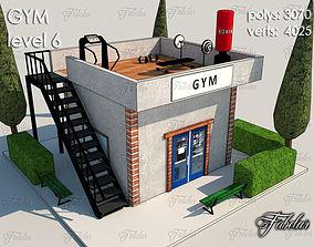 Gym Level 3D model VR / AR ready
