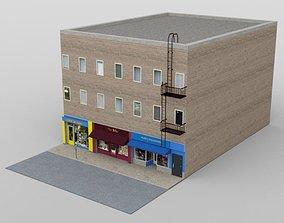 3D model Three Store Building for DAZ Studio