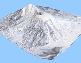 3D Volcano Mountains - Russia