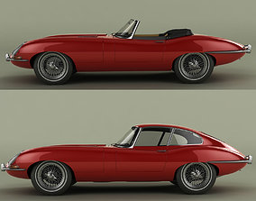 3D Jaguar E-type Coupe and Convertible
