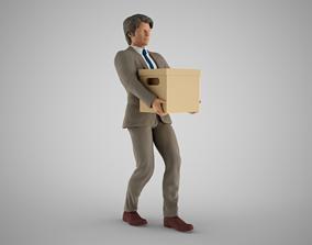 3D printable model Man Carrying Box