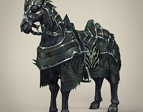3D asset Fantasy Medieval Warrior Horse