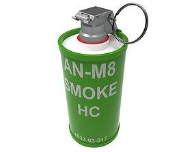 AN-M8-HC SMOKE GRENADE 3D printable model