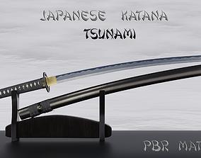 3D Tsunami katana