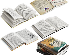 3D Open Books Set