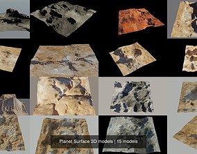 Planet Surface 3D models pluto