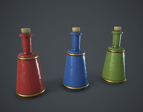 Small Potion Vial 3D asset