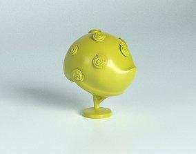 3D printable model Cartoon rosebush