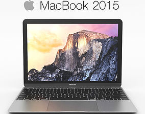 3D Apple MacBook 2015