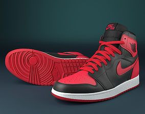 3D model apparel nike air jordan 1 BANNED