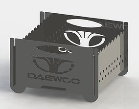 3D print model Grill with Daewoo logo 300x300 for laser