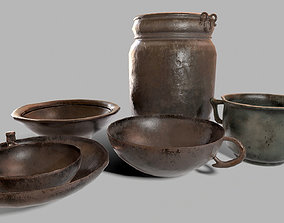 Medieval Dishes Collection 3D asset