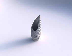 3D print model Vase Tsunami with bent extruded pattern