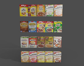 3D asset Cereal boxes in store product on shelf