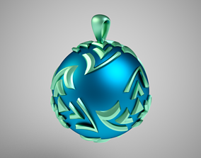 Twisted Sphere Necklace 3D printable model