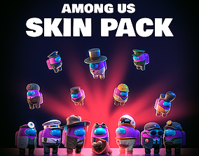 Among Us Skins Pack 3D asset