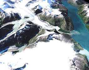 staellite volcano Mountain landscape 3D