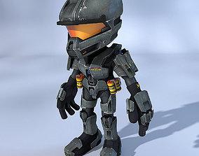 SF Cartoon Trooper 3D model