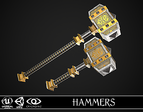 3D model Fantasy Hammers 04