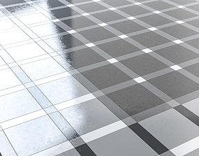Burger King style tiled floor 3D model
