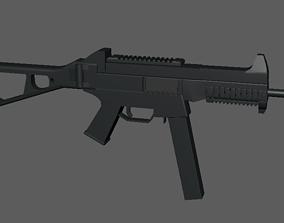 3D model UMP9 - SubMachineGun Lowpoly