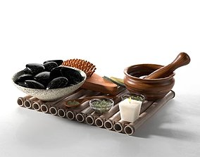 3D model Spa Accessories on Tray