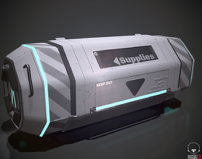 Scifi loot supplies crate 3D model VR / AR ready