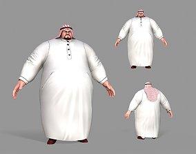 3D model Arab fat
