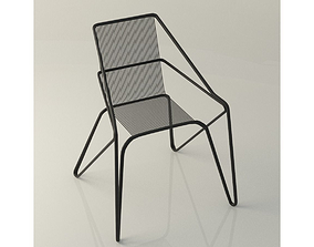 Lattice iron frame chair 3D model