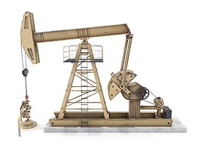 3D model Oil Pumpjack Animated 3