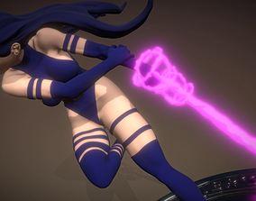Psylocke from X-Men 3D Model Fanart STL-ZTL for 3d