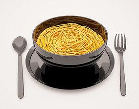 dinner 3D print model NOODLES
