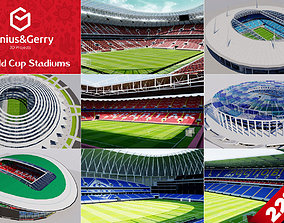 football 3D World Cup Stadiums - Russia 2018