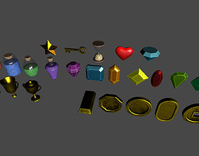 Collectable items 3D model