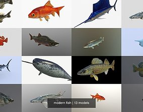 3D model modern fish