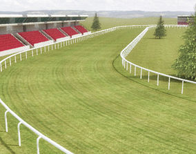 Racecourse Construction Kit 3D asset