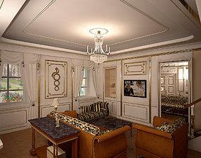 3D Ampir Neoklasik Liveroom Leonardo DiCaprio