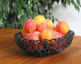 3D printable model Fruit Bowl - Voronoi-Style No 4