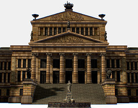 3D model Gendarmenmarkt German French Church Konzerthaus