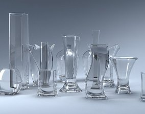 A set of 13 vases 3D